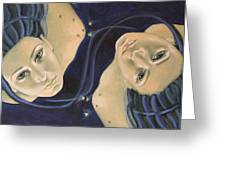 Gemini from Zodiac series Greeting Card by Dorina  Costras