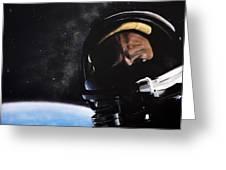 Gemini Xii- Buzz Aldrin Greeting Card by Simon Kregar