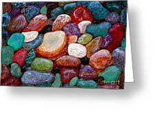 Gemstones Greeting Card by Barbara Griffin