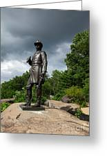 General K Warren Monument Gettysburg Greeting Card by James Brunker