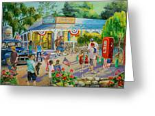 General Store After July 4th Parade Greeting Card by Jan Mecklenburg