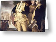 GENERALS AT YORKTOWN, 1781 Greeting Card by Granger