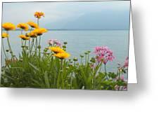 Geneva Flowers Greeting Card by Teresa Tilley