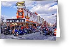 Geno's 3 Greeting Card by Jack Paolini