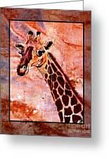 Gentle Giraffe Greeting Card by Sylvie Heasman
