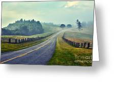 Gentle Morning - Blue Ridge Parkway II Greeting Card by Dan Carmichael
