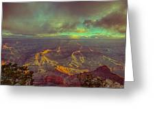 Gentle Sunrise Over The Canyon Greeting Card by Lisa  Spencer