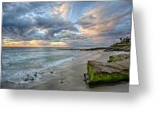 Gentle Sunset Greeting Card by Peter Tellone