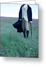 Gentleman Walking In The Country Greeting Card by Jill Battaglia