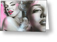 'gentlemen Prefer Blondes' Greeting Card by Christian Chapman Art