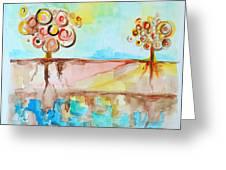 Geo Trees Greeting Card by Patricia Awapara