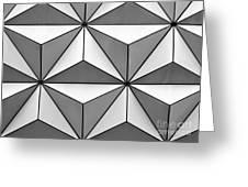 Geodesic Pyramids Greeting Card by Sabrina L Ryan