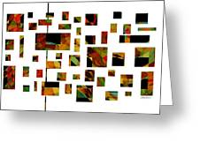 Geometric Design - Abstract - Art Greeting Card by Ann Powell