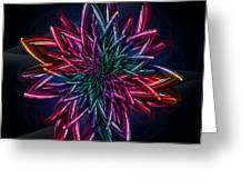 Geometric Flower  Greeting Card by Mark Ashkenazi