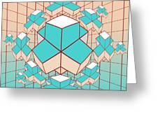 geometric2 Greeting Card by Mark Ashkenazi