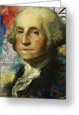 George Washington Greeting Card by Corporate Art Task Force