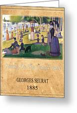 Georges Seurat 2 Greeting Card by Andrew Fare