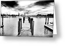 Georgetown Dock Greeting Card by John Rizzuto