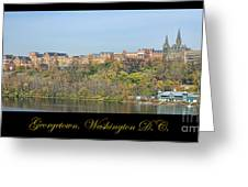 Georgetown Poster Greeting Card by Olivier Le Queinec