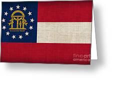 Georgia State Flag Greeting Card by Pixel Chimp