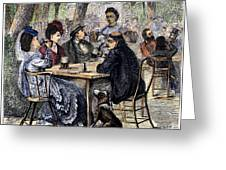 German Beer Garden, 1870 Greeting Card by Granger