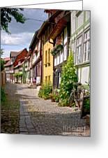 German Old Village Quedlinburg Greeting Card by Heiko Koehrer-Wagner
