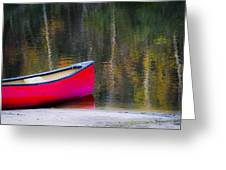 Getaway Canoe Greeting Card by Carolyn Marshall