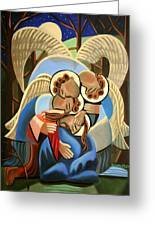 Gethsemane The Hour Is Near Greeting Card by Anthony Falbo