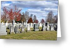 Gettysburg National Cemetery Greeting Card by Brendan Reals