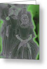 Ghost Family Portrait Greeting Card by First Star Art