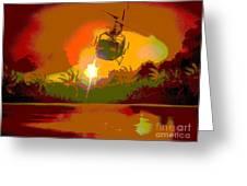Ghost Huey Apocalypse  Greeting Card by William Gruendler