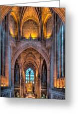 Ghost In The Cathedral Greeting Card by Adrian Evans