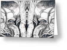 Ghost In The Machine - Detail Mirrored Greeting Card by Otto Rapp