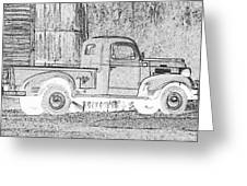 Ghost Of A Truck Greeting Card by Jean Noren
