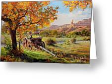 Ghost Ranch Old Wagon Greeting Card by Gary Kim