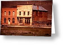 Ghost Town Bodie California Greeting Card by Dick Rowan