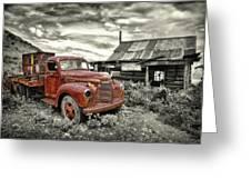 Ghost Town Truck Greeting Card by Robert Jensen