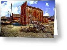 Ghost Towns in the SouthWest Greeting Card by  Bob and Nadine Johnston