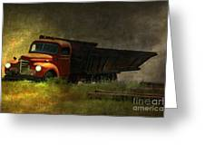 Ghost Truck Greeting Card by Vickie Emms