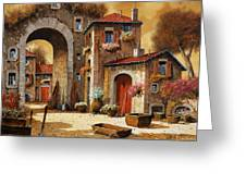 Giallo Greeting Card by Guido Borelli