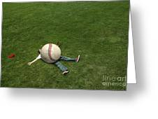 Giant Baseball Greeting Card by Diane Diederich