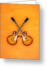 Gibson Les Paul Standart   Greeting Card by Doron Mafdoos