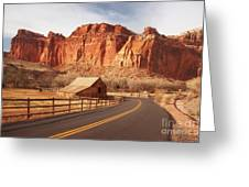 Gifford Barn At Capitol Reef National Park Greeting Card by Carolyn Rauh