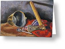 Gifts Of The Ax Makers Greeting Card by Jennifer Richard-Morrow