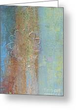 Gilded Blue Abstract Greeting Card by Anahi DeCanio