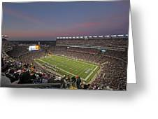 Gillette Stadium In Foxboro Greeting Card by Juergen Roth