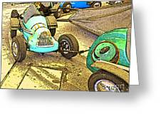 Gilroy Gardens Old Cars Greeting Card by Artist and Photographer Laura Wrede