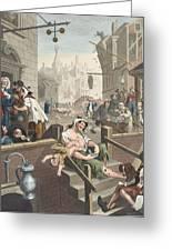 Gin Lane, Illustration From Hogarth Greeting Card by William Hogarth