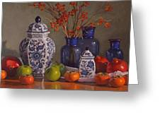 Ginger Jars Greeting Card by Sarah Blumenschein
