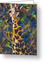 Giraffe Greeting Card by Kd Neeley